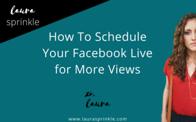 How to Schedule Your Facebook Live for More Views