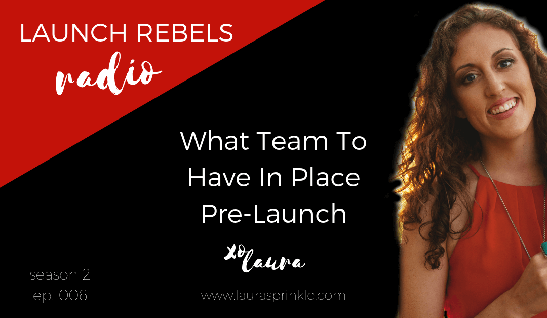 Episode 015: What Team To Have In Place Pre-Launch